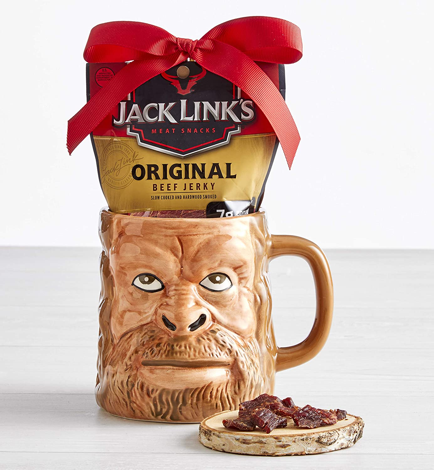 Jack Links Sasquatch Face Mug With Beef Jerky Gift Set