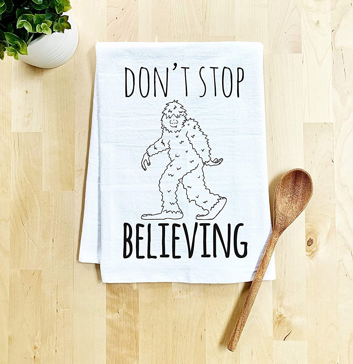 A Sasquatch Kitchen Towel (Dont Stop Believing)