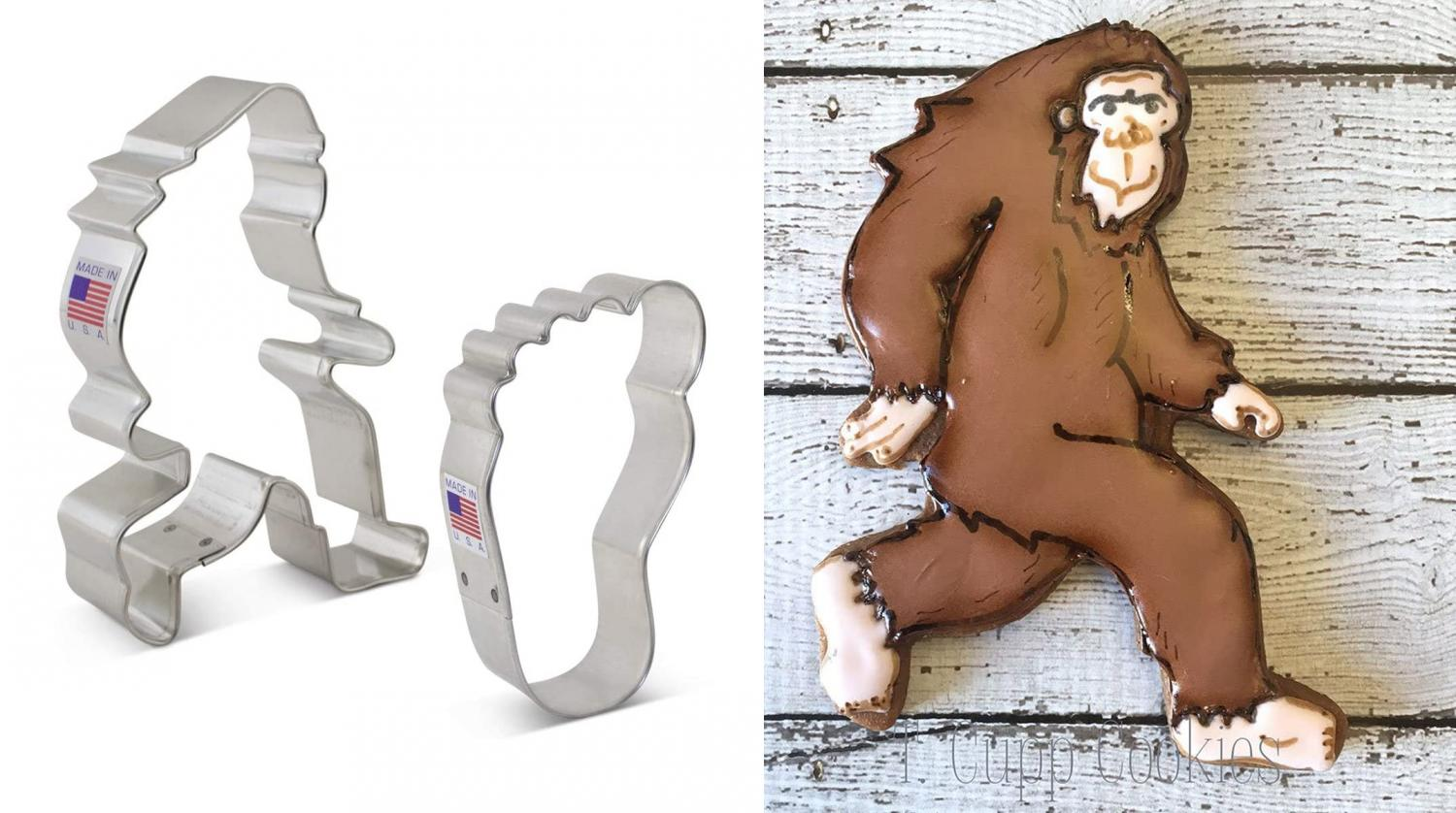 A Sasquatch Cookie Cutter Set