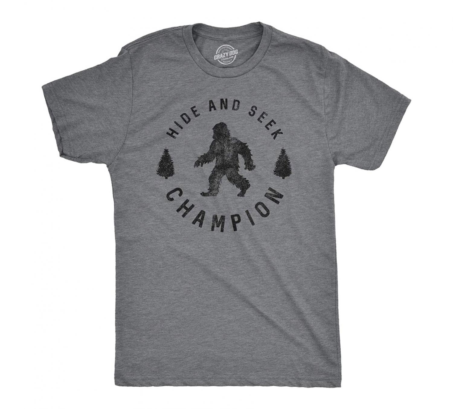 A Sasquatch T-Shirt (Hide and Seek Champion)