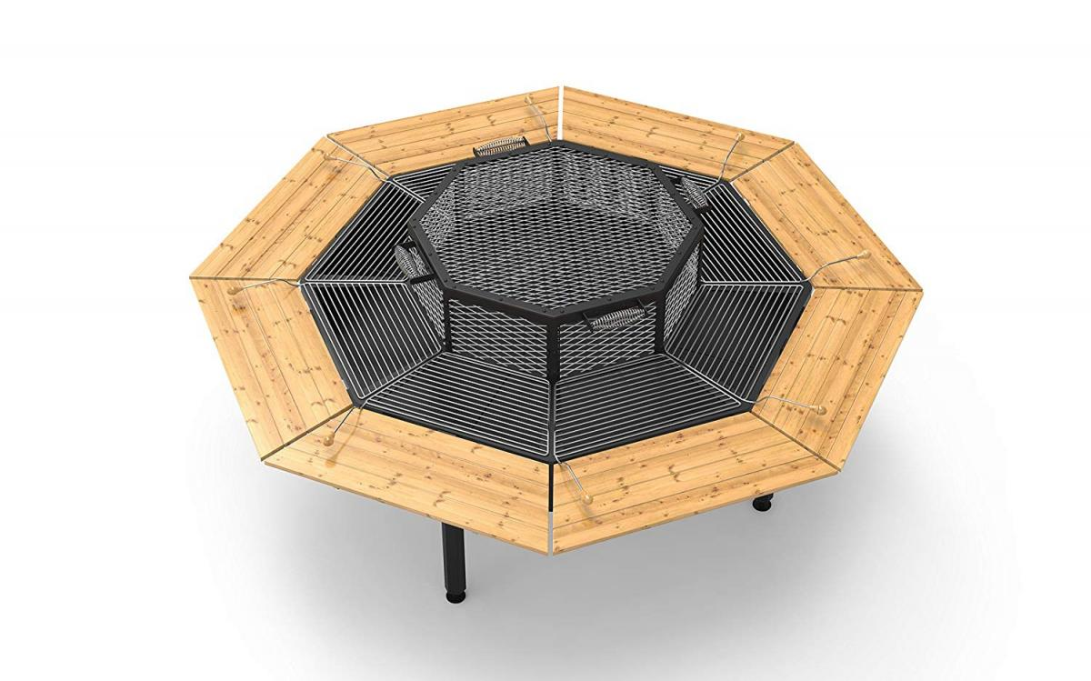 Jag Grill Table - Octagon 8 Sided Community BBQ Grilling Table