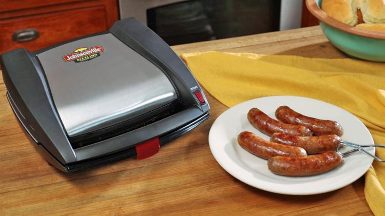 Johnsonville Mini Indoor Sausage Grill - Sizzling Sausage Grill Panini press sausage griller