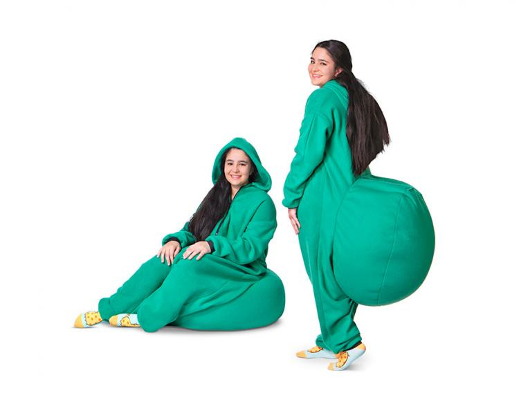 Junk In The Trunk Bean Bag Onesie - Big butt bean bag jumpsuit
