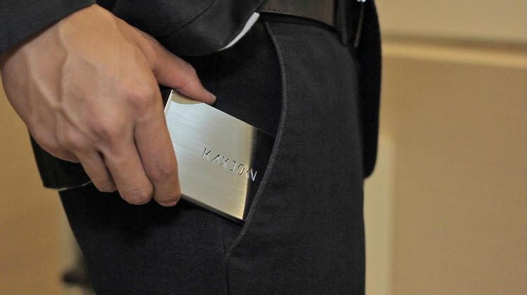 Kallet Sleek Stainless Steel Wallet That Swipes