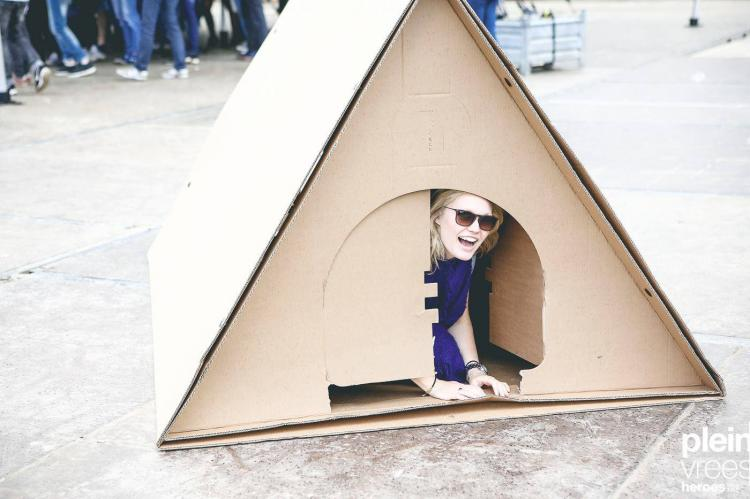 KarTent Cardboard Tent For Music Festivals