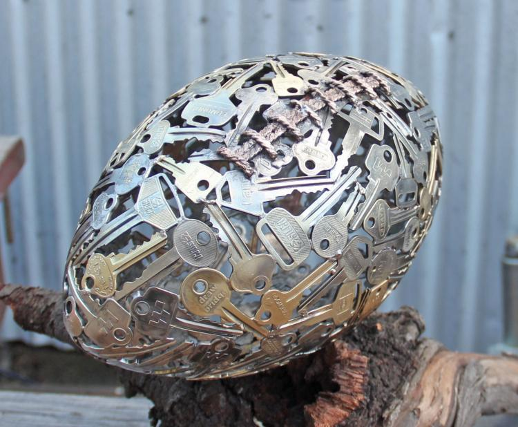 Key Art - Football Made From Recycled Keys