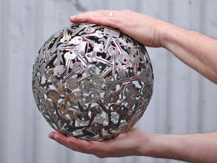 Key Art - Giant Ball Made From Recycled Keys