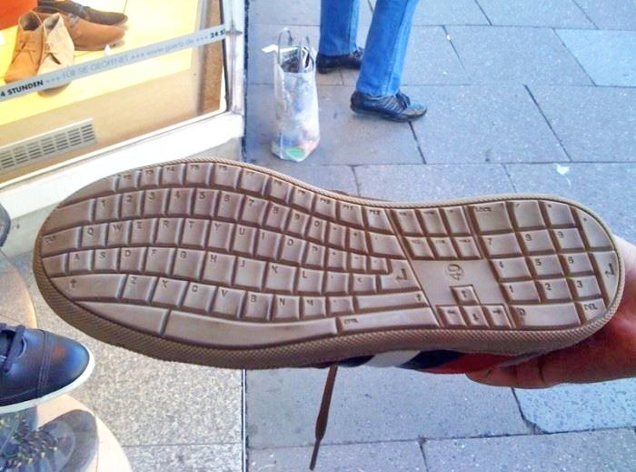Shoes Have Keyboard On Bottom