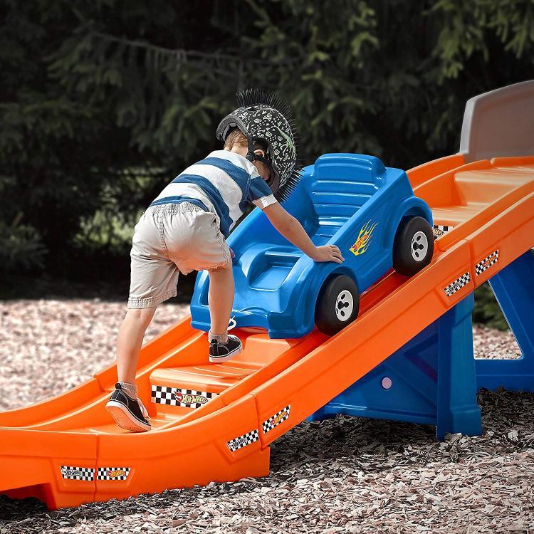 Kids Backyard Roller-Coaster Ride-on Play-set - Hot Wheels kids roller-coaster