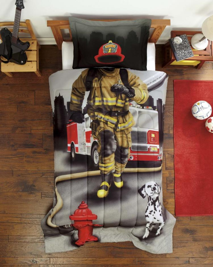 Snurk Unique Duvet and Bed Sheets - Unique Firefighter Duvet
