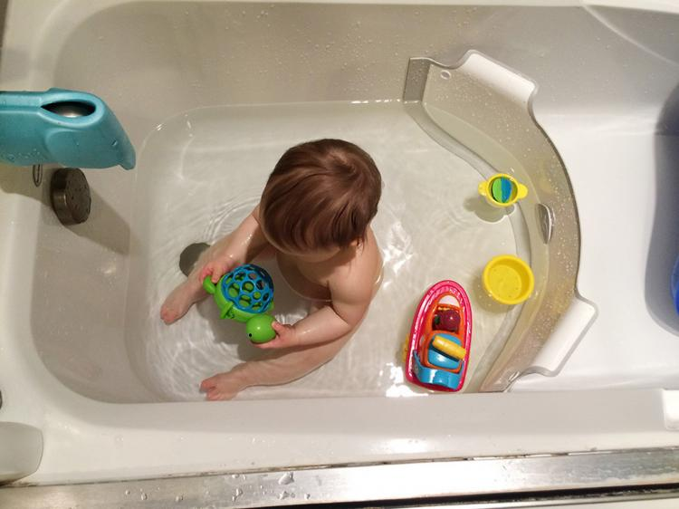 Baby Dam Bathtub Water Divider - Saves Water While Bathing Your Kids - Bathtub Water Saver