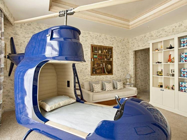 Custom Kids Helicopter Bed