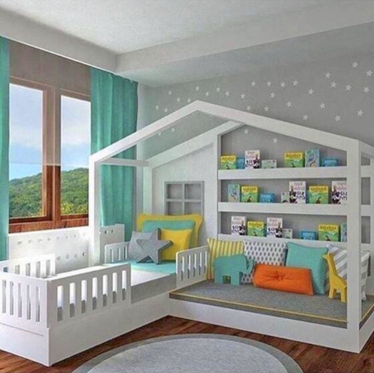 Kids Montessori Bed Has a Bed and Reading Nook In One - Kids reading nook bed frame