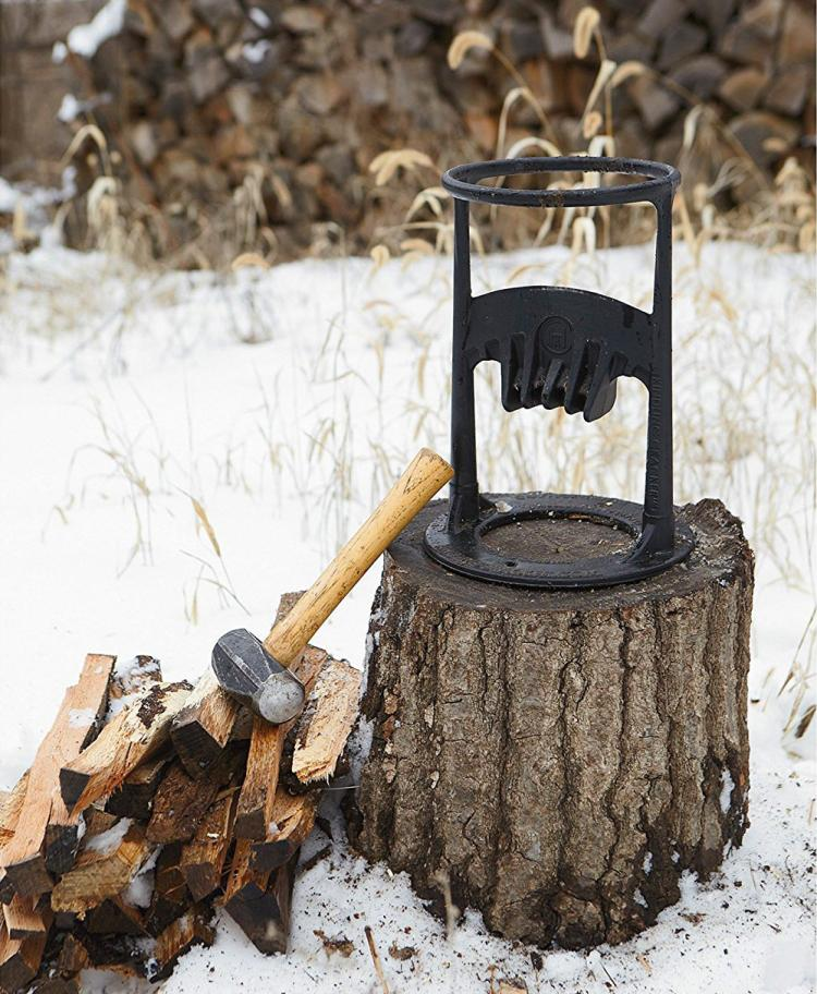 Kindling Cracker - Hammer Powered Kindling Splitter - Ring Base Wood Splitter