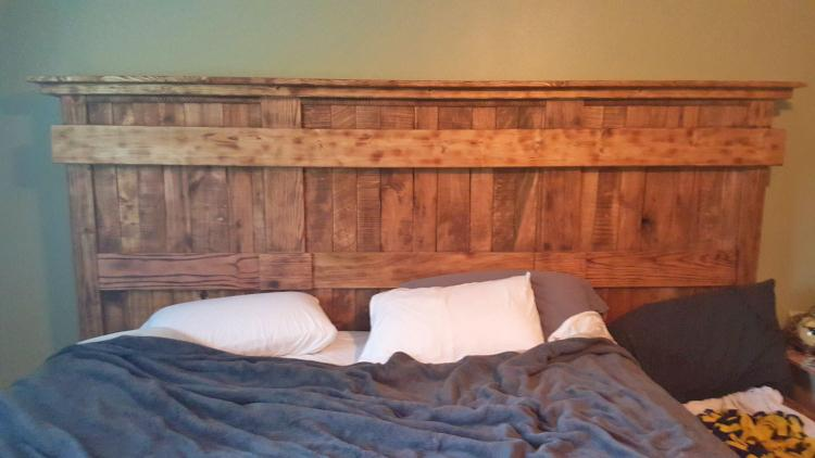 Wooden Bed Frame With Dog Insert