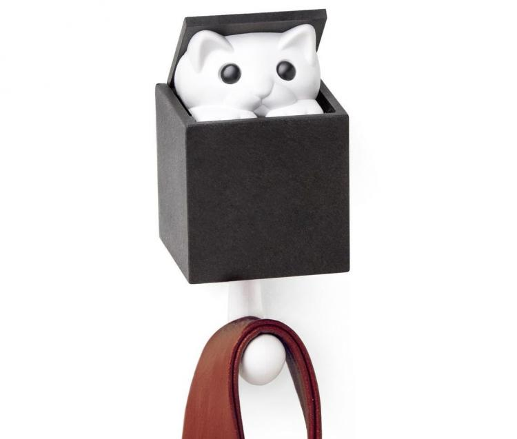 Kitt-a-Boo Surpise Cat Wall Hook - Wall Hook With Cat That Pops Out Of Top