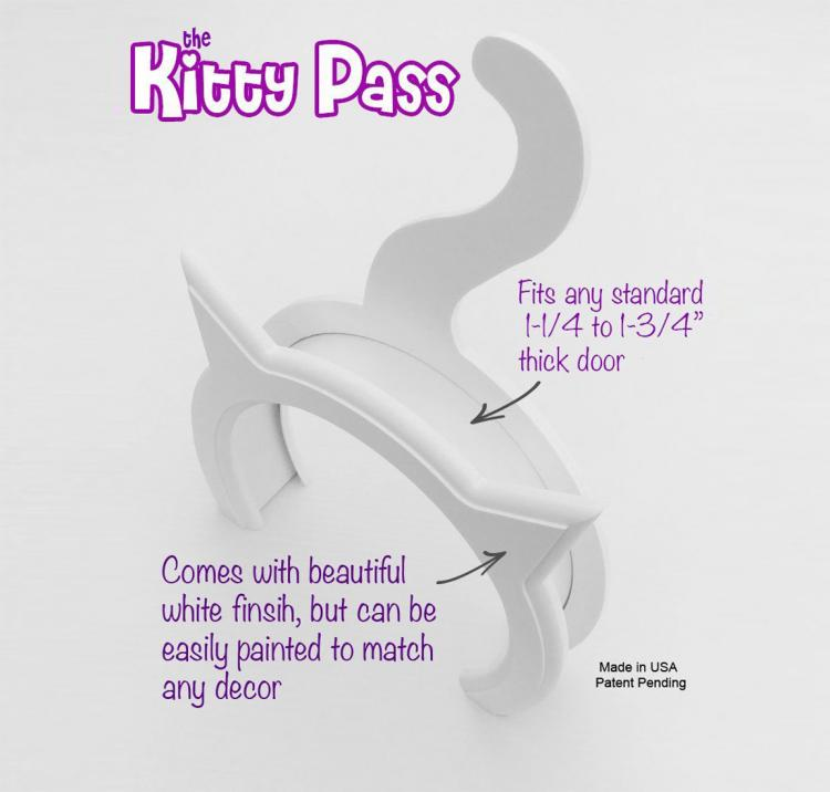 The Kitty Pass - Cat Shaped Kitten Door Pass
