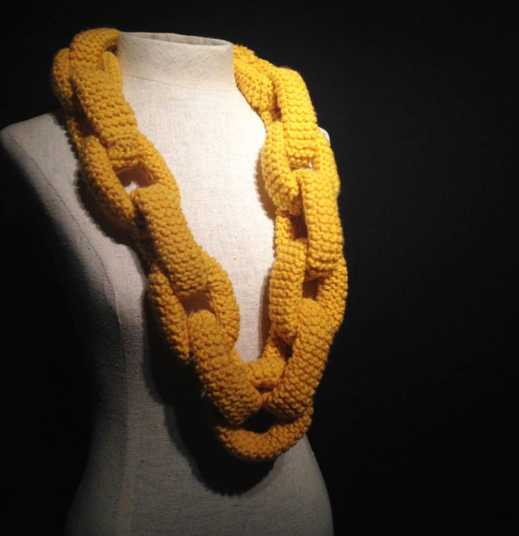 Knitted Chain Link Scarf