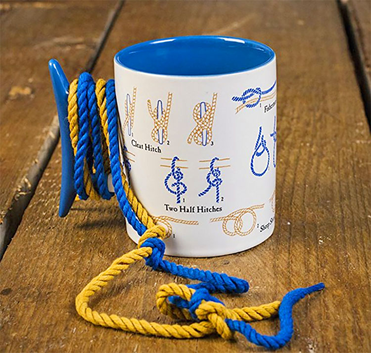 Knot Tie Coffee Mug Teaches You How To Tie Knots - Knot tie teaching coffee mug