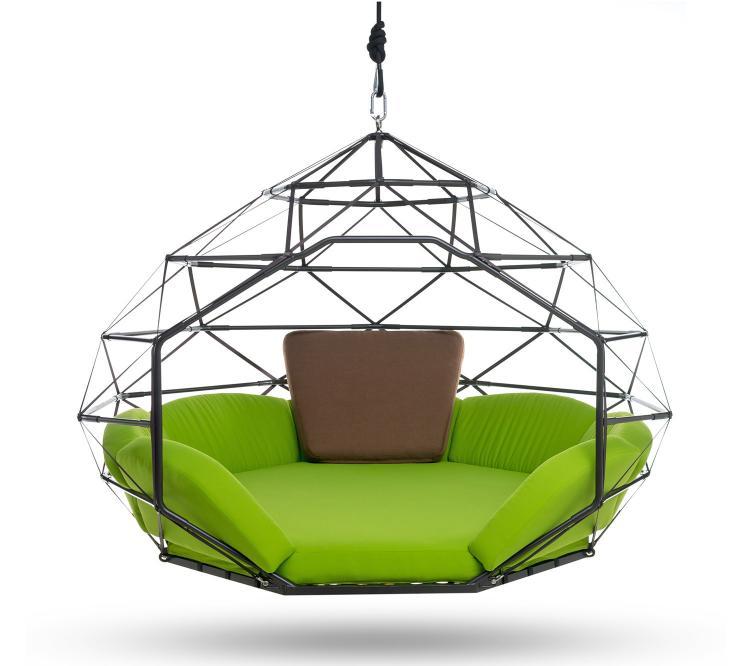 Kodama Zomes - Hanging Hammock - Kodama Zomes: A Caged Hanging Outdoor Hammock