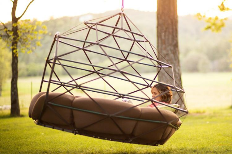The Kodama Is A Giant Hanging Outdoor Lounger That Fits 4 People