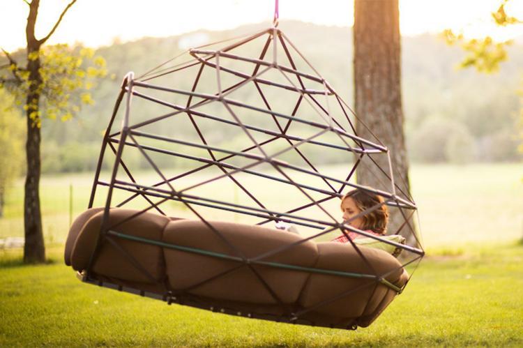 Kodama Zomes A Caged Hanging Outdoor Hammock