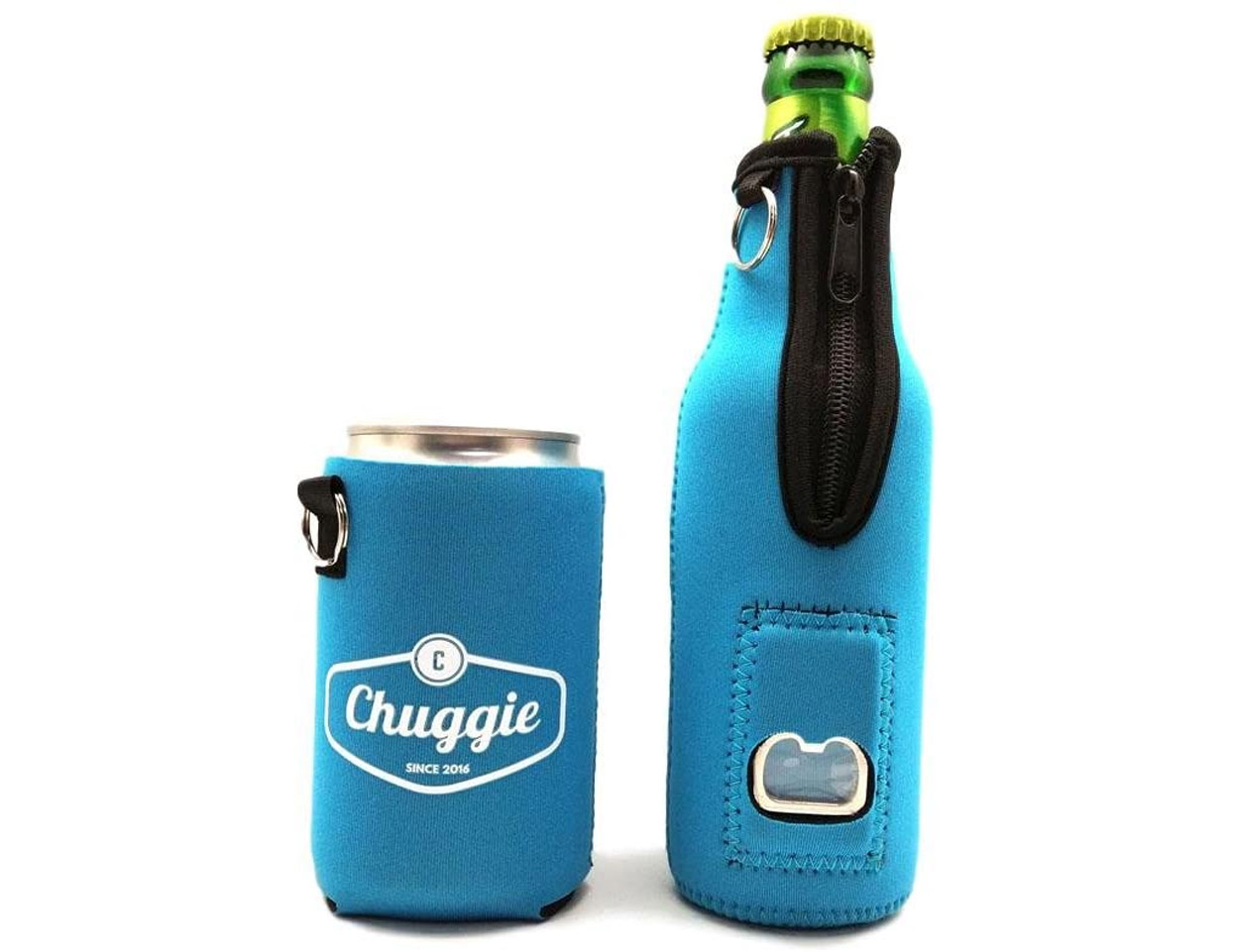 Triple Pocket Beer Koozie Holds pack of cigarettes and lighter (or snack, phone, lipstick)
