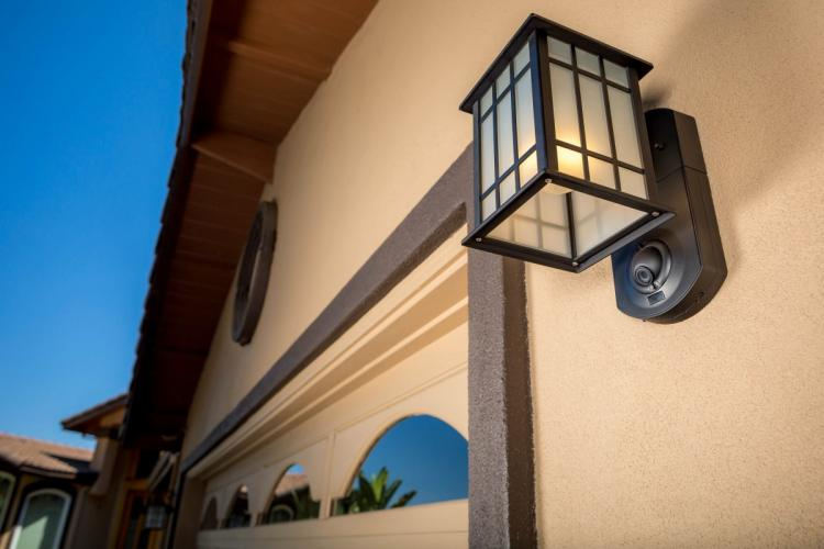 Outdoor Security Lights With Camera Kuna an outdoor home light that doubles as a smart security camera kuna smart light outdoor light with integrated security camera and alarm workwithnaturefo