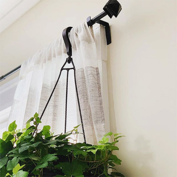 Kwik Hang Curtain Rod Holders Taps Right Into Window Frame