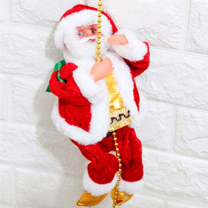 Ladder Climbing Santa Claus Funny Christmas Gadget Decorations