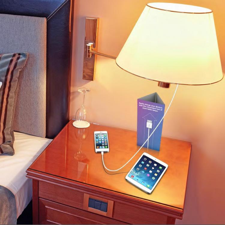 Lamp Champ - USB Charging Lamp Insert - Charge Your Phone Through Your Lamp