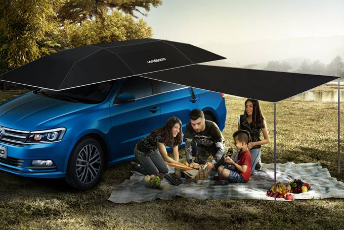 Lanmodo Car Umbrella - Automatic car umbrella protects against the sun, rain, hail, bird poop, and more
