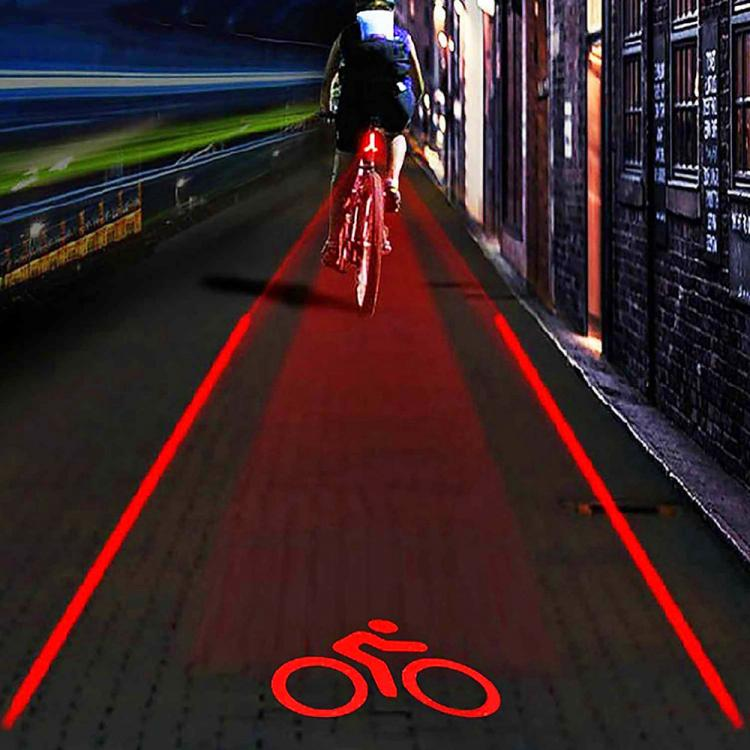 Laser Bike Lane Creates Your Own Bicycle Lane While Your Ride
