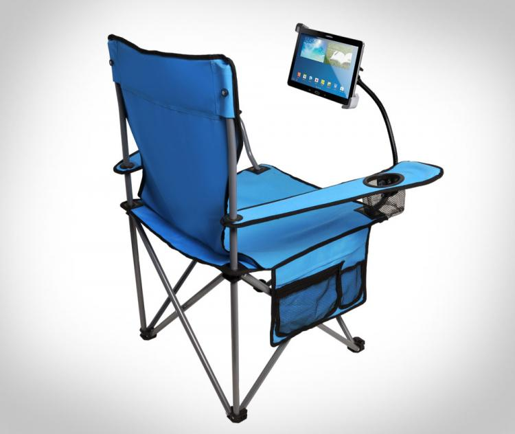 Lawn Chair With Ipad Holder
