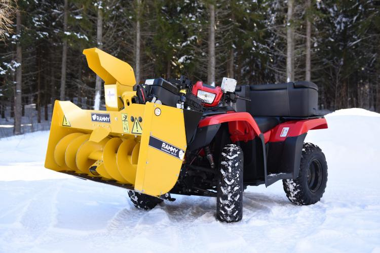 Snowblower ATV Attachment - Rammy 4x4 snow blower front mount