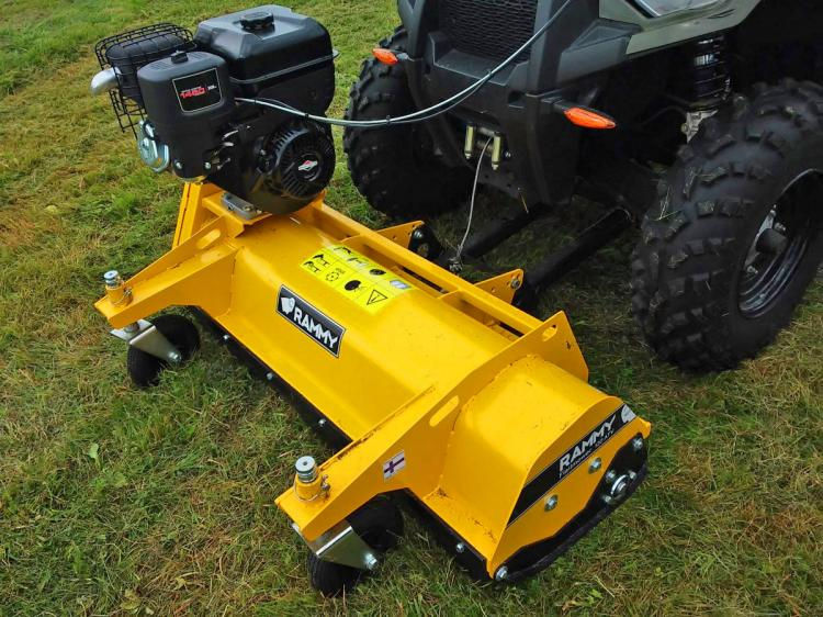 Lawn Mower ATV Attachment - Rammy 4x4 grass mower front mount