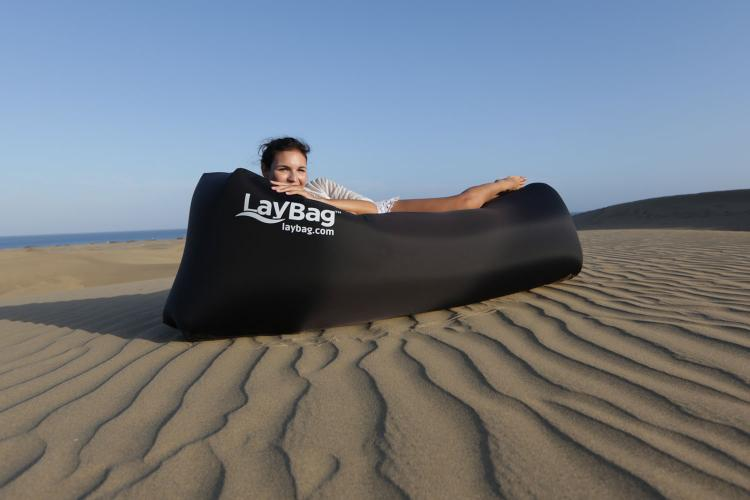 Laybag Easy Inflatable Lounger - Easy Inflatable couch using the wind
