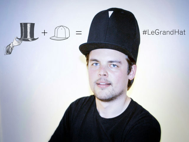 le grand hat half top hat half baseball cap