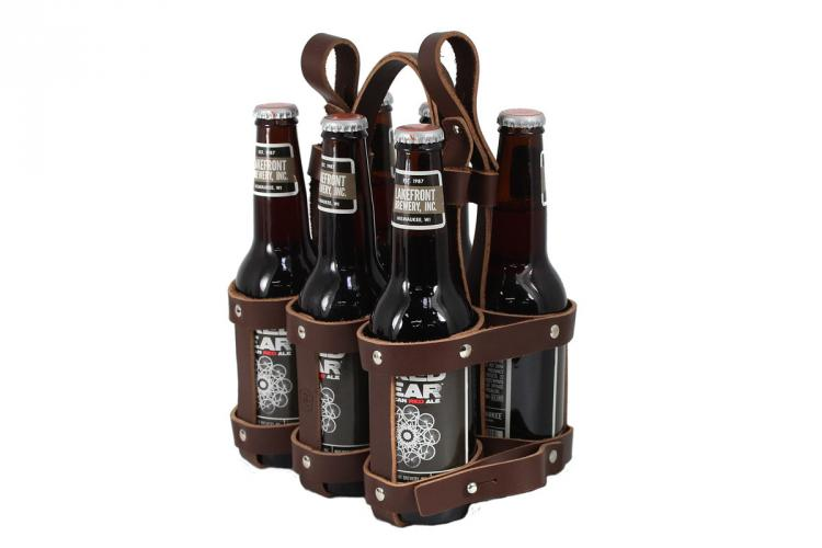 Fyxation Leather 6-Pack Beer Bicycle Carrier