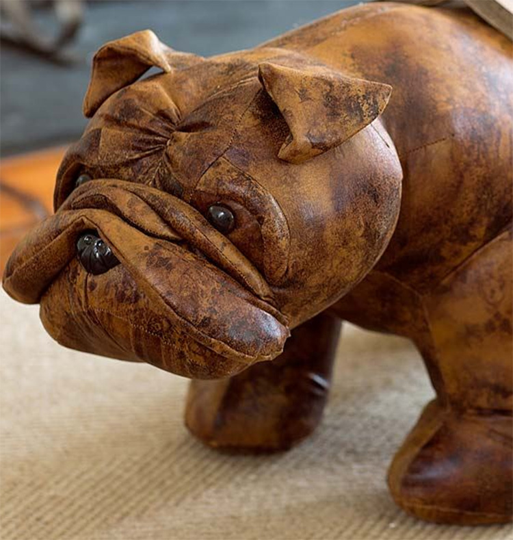 English Bulldog Ottoman