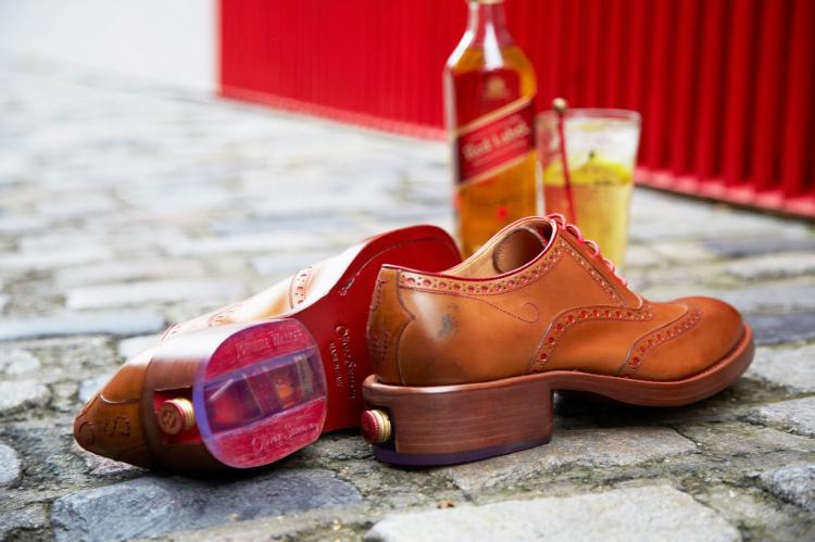 Leather Shoe With Booze Stash In Heel