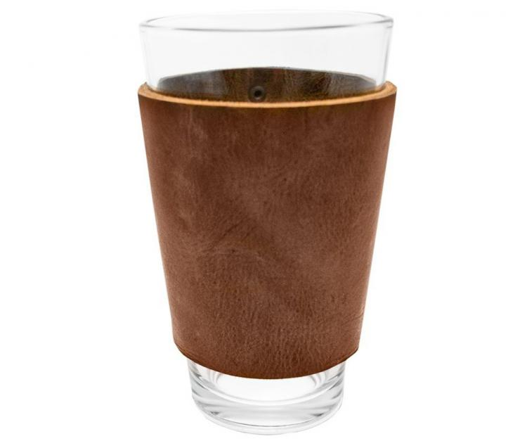 Leather Drinking Glass Sleeve