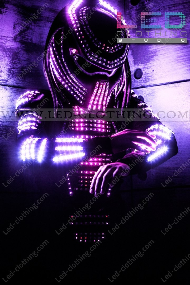Light Up Led Predator Costume Controllable Via Wi Fi