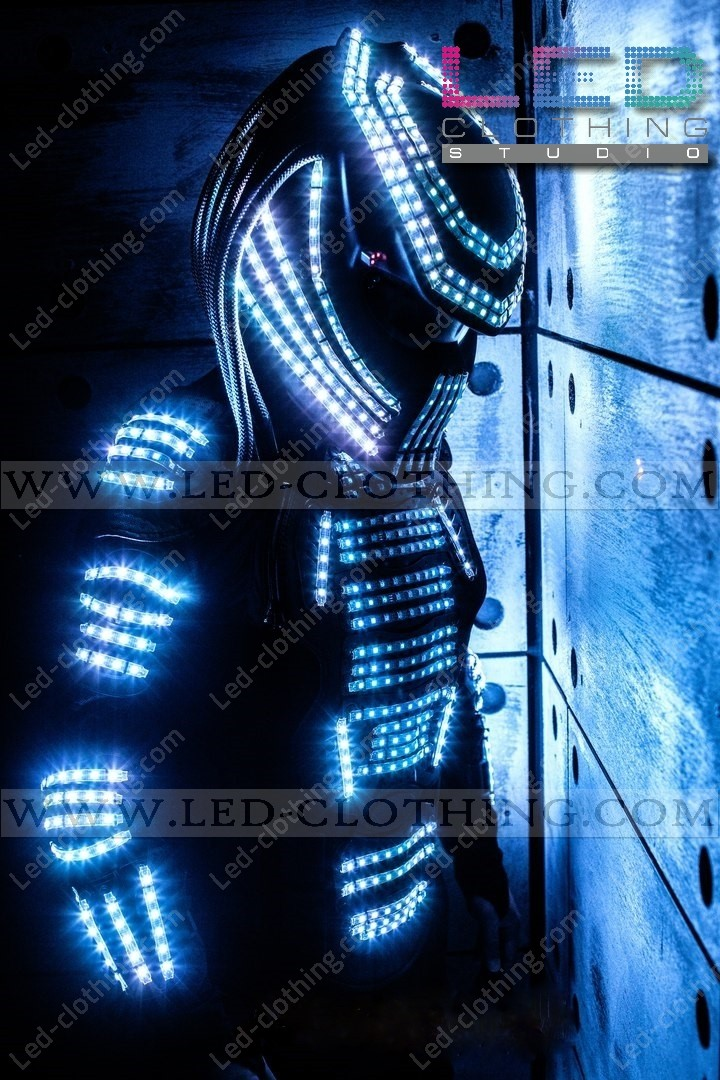Predator LED Costume - Light-up predator costume - Programmable LED predator costume