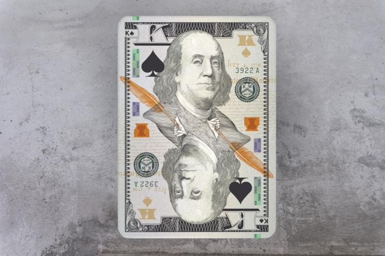 Legal Tender Playing Cards - Currency Inspired Playing Cards - Money Playing Cards