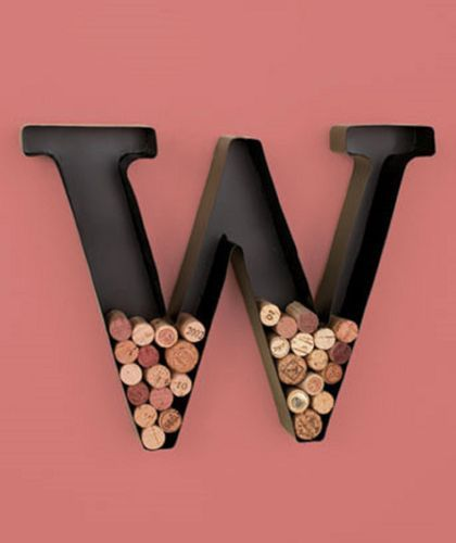 letter shaped wine cork holder metal letter wine holder