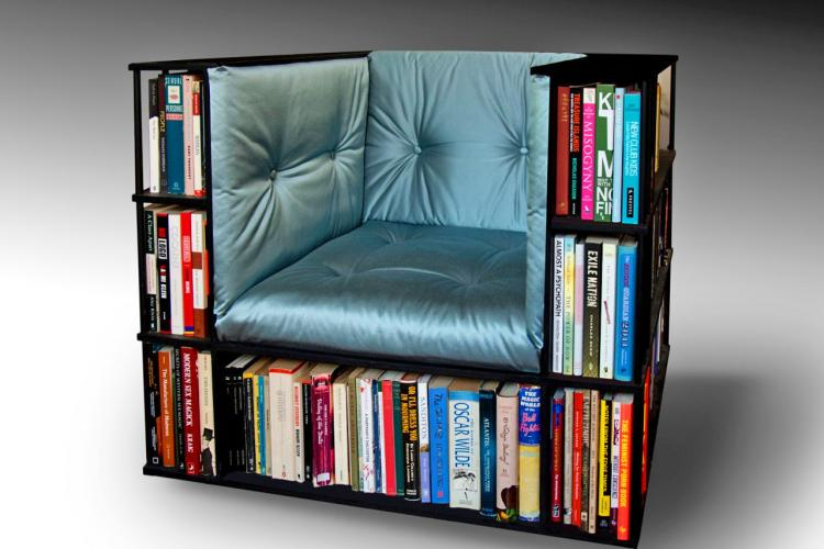 Library Chair   Bookcase Reading Chair   A Reading Chair That Doubles As A  Bookcase