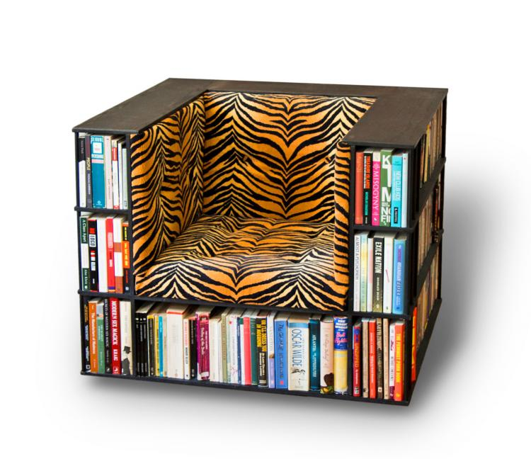 Library Chair A Reading That Doubles As Bookcase