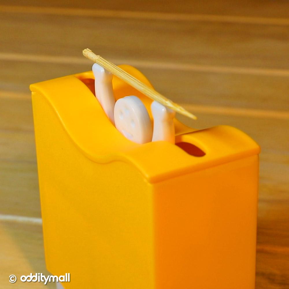 Weightlifter Toothpick Dispenser - Lifting Man Funny Toothpick Dispenser