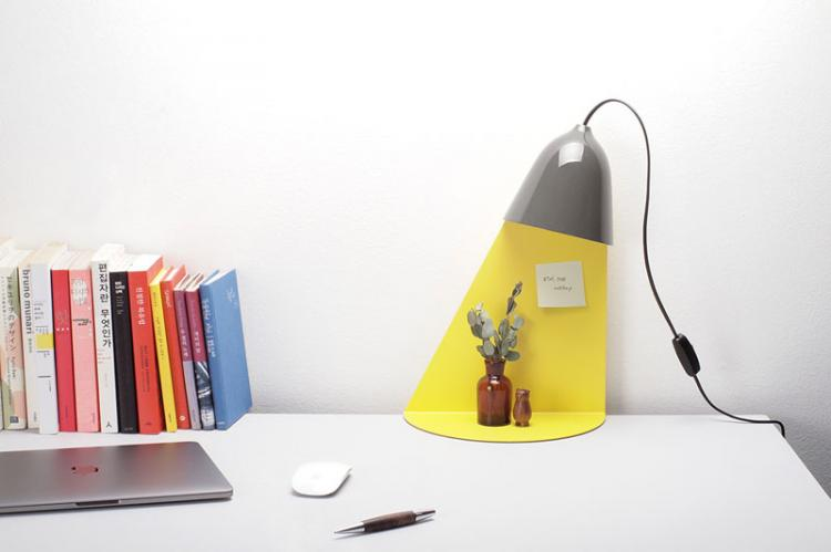Light Shelf - Unique lamp design - Lamp With A Built-In Shelf